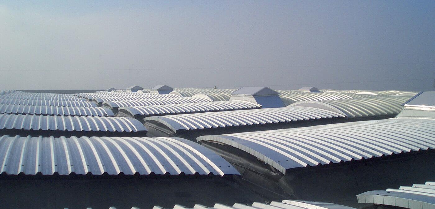 pensiline, bonifiche amianto, impermeabilizzazioni, lucernari, shed
